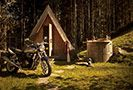 luxury hut cabin glamping wooden