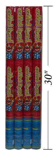 """Party Popper / 30"""" Confetti Shooter (4 Pack), 2015 Amazon Top Rated Confetti #Toy"""