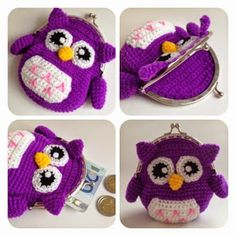 Free crochet patterns and video tutorials: Pretty crochet coin purses ideas. Free crochet patterns and video tutorials: Pretty crochet coin purses ideas. Crochet Shell Stitch, Bead Crochet, Crochet Dolls, Crochet Yarn, Free Crochet, Crochet Coin Purse, Crochet Purse Patterns, Crochet Purses, Crochet Pouch