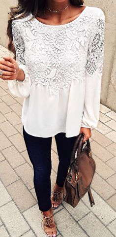 white lace details