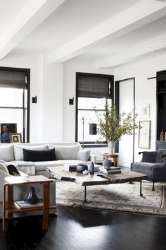 Home Decor Luxury Industrial Contemporary Living Room Industrial Verve In An Uptown Loft.Home Decor Luxury Industrial Contemporary Living Room Industrial Verve In An Uptown Loft Modern Farmhouse Living Room Decor, Decor Home Living Room, Living Room Interior, Home And Living, Living Room Designs, Modern Living, Living Rooms, Small Living, Modern Decor