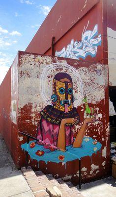 Mexico City based artist Saner in Oaxaca