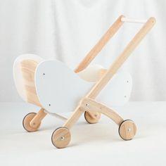 Wooden Doll Prams and Strollers: A Long-Lasting Gift Pram Toys, Dolls Prams, Toys For Girls, Kids Toys, All Toys, Wooden Dolls, Baby Store, Wood Toys, Kids Furniture