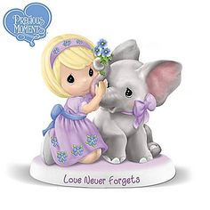 Precious Moments Girl with Elephant Figurine Supports Alzheimer's Research