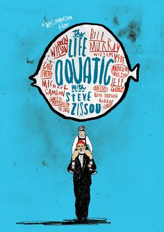 The Life Aquatic with Steve Zissou- poster by Peter Stain. This guy is so great!
