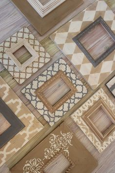 Natural Neutral Wall Grouping Gallery of Custom Wood Distressed Picture Frames (8) ANY colors to match your home