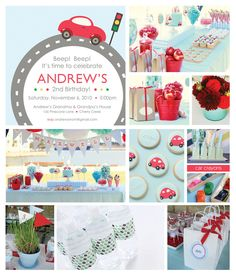Image detail for -Little Red Car Birthday Party Ideas | The Party Dress