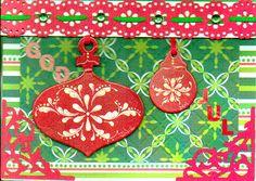 $4 SAVINGS-1 Of A Kind Original 3D Handmade Scandinavian Christmas Card-Free S/H #DahlHouse
