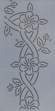 "Cable and Flower Border 4.5"" - The Stencil Company"