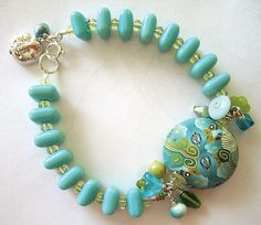 Cristi's Bracelet with Polymer Clay Bead by Doreen's Snaps, via Flickr