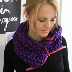 I made this awesome scarf. It is really easy and soooo pretty - and the tutorial is really great.