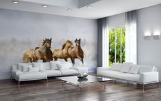 Fondo de pantalla de caballos salvajes repositionable peel &