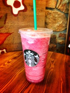 "*Starbucks*: Order a ""Passion Tea Lemonade Sweetened"" and ask for it to be blended. The result is a sweet & refreshing slushy! Perfect for hot summer days."