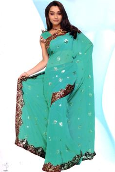 Turquoise Bridal Designer Heavy Sequin Bollywood Saree Sari Boho ROBE KAFTAN New | eBay