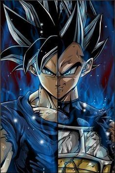 Goku and Vegeta Ultra Instinct - anime Dragon Ball Gt, Dragonball Evolution, Super Anime, Ball Drawing, Animes Wallpapers, Son Goku, Fashion Drawings, Anime Guys