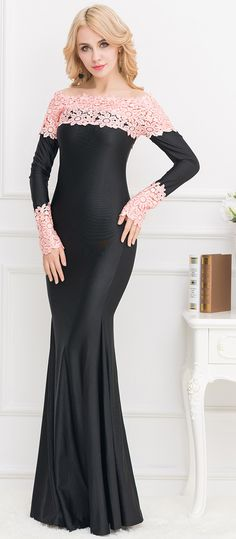 4e45d83d9fc New 2016 Sexy Fashion Women Spring Plus Size Elegant Long Dresses Off the  Shoulder Boat Neck Pink Lace Maxi Gown Dress