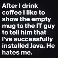 Coffee - Java programming humor