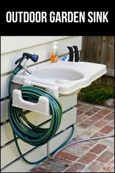 This is so easy to install you'll have an outdoor garden sink ready to use in minutes!