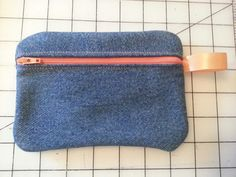 Small Cosmetic Pouch made out of old jeans