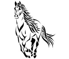 Horse-Horse decal-Vinyl wall sticker-Horse sticker-Big 28 X 38 vinyl wall decal