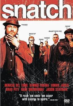 Snatch With Brad Pitt, Jason Statham and Brad Pitt. Written and directed by Guy Ritchie. Film Movie, See Movie, Top Movies, Great Movies, Movies To Watch, Film Mythique, Gangster Movies, Bon Film, Movies And Series