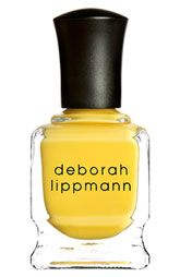 Yellow is IN. And Deborah Lippmann polish stays on forever.