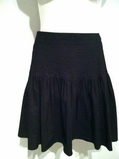Burberry London 100% Cotton Black Skirt Sz 4  eBay $19.99 EUC