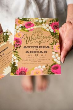 These gorgeous bright pink floral wedding invitations make for a stunning first impression. They are great for an outdoor or garden wedding. #floralweddinginvite #floralinvite #floralweddinginvitation #floralinvitation #floral #botanical