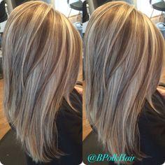 Dimensional blonde - Highlights and low lights Love Hair, Great Hair, Gorgeous Hair, Medium Hair Styles, Long Hair Styles, Look 2018, Hair Color And Cut, Blonde Highlights, Foil Highlights