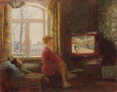 Под понятием современный здесь объединены картины 1990-2000 гг. Однако прослеживается некоторая закономерность. Как в советской живописи изображение интерьера…