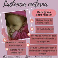 Beneficios para el bebé #lactancia #lactanciamaterna #maternidad #maternity #beneficios #bebé Natural, Menopause, Allergies, After Pregnancy, Baby Necessities, Sensory Activities, Mother's Milk, Bebe, Nature