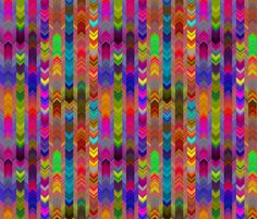 CHEVRONS HARVEST CARNIVAL fabric by paysmage on Spoonflower - custom fabric