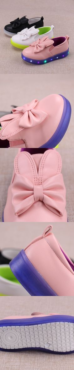 New Product 2016 Summer Autumn Lighted PU Pentagram Rabbit Girls Children Shoes With Light Kids Shoes Led Chaussure Enfant G73 $31.8