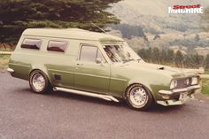 ◆ Visit MACHINE Shop Café... ◆ ~ Aussie Custom Cars & Bikes ~ ('Olive' ~ HG Holden Panel Van)