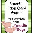 This is a quick little short i flash card game that will help your students sound out short i words.
