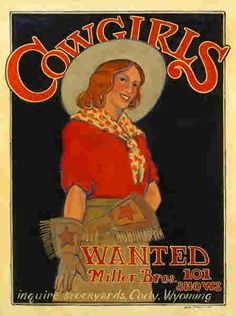 """""""Cowgirls Wanted"""" poster."""