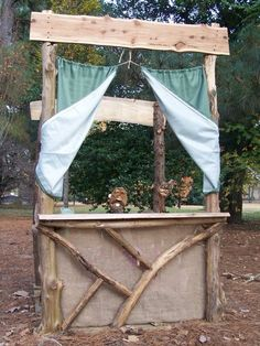 Outdoor puppet theatre