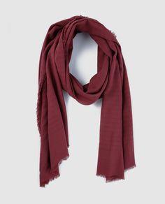 Fular básico de algodón en color rojo