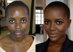 contouring dark skin before and after