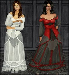 """"""" Download Movie Stuff Horror Bride Dress """" So I saw on Skell's wishlist that she wanted this dress for TS2 so here it is! 8D Actually I've had this converted for months now, but just never got around..."""