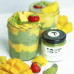 Matcha Mint Mango Smoothie