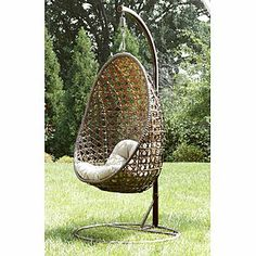 Ty Pennington Style Mayfield Hanging Chair with Stand - Outdoor Living - Patio Furniture - Chairs