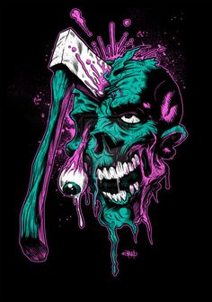 Zombie by Brandon Heart Zombie Drawings, Art Drawings, Arte Horror, Horror Art, Tattoo Grafik, Arte Black, Best Zombie, Skull Wallpaper, Zombie Art