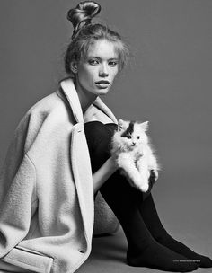 fashion kitten Julia Hafstrom Lounges with Cats in Scandinavia S/S/A/W by Hasse Nielsen