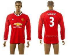 http://www.xjersey.com/201516-manchester-united-3-shaw-home-long-sleeve-thailand-jersey.html 2015-16 MANCHESTER UNITED 3 SHAW HOME LONG SLEEVE THAILAND JERSEY Only 33.11€ , Free Shipping!