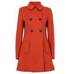 Burnt Orange Coat from Marcs $399  ...way over my budget, but isn't it cute?
