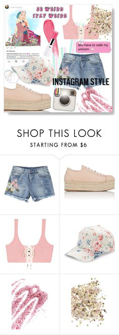 """""""60-Second Style: Insta-Ready"""" by orietta-rose on Polyvore featuring Miu Miu, Puma, BCBGeneration, Obsessive Compulsive Cosmetics, Topshop, Lancôme, 60secondstyle and PVShareYourStyle"""
