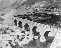 Hejaz Railway - The second railway bridge after Shajarah, just before Makarim, in the Yarmuk Valley.