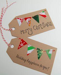 Christmas Gift Tags Holiday Gift Tag Fabric Gift by CottagePixie Diy Christmas Tags, Christmas Bunting, Holiday Gift Tags, Handmade Christmas Gifts, Christmas Gift Wrapping, Holiday Gifts, Christmas Crafts, Christmas Decorations, Merry Christmas