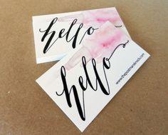 Business Card Design Tutorial: DIY and Using Moo.com | The Postman's Knock